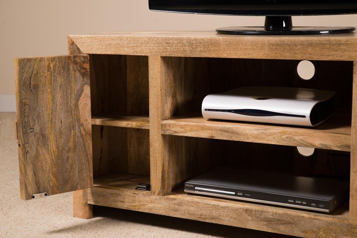 Dakota Light Mango Large Corner Tv Unit Casa Bella Furniture Uk # Meuble Tv Casa