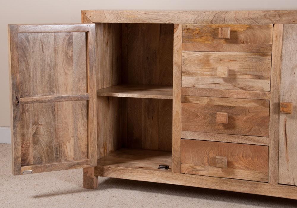 Dakota light mango large sideboard casa bella furniture uk for Sideboard mangoholz