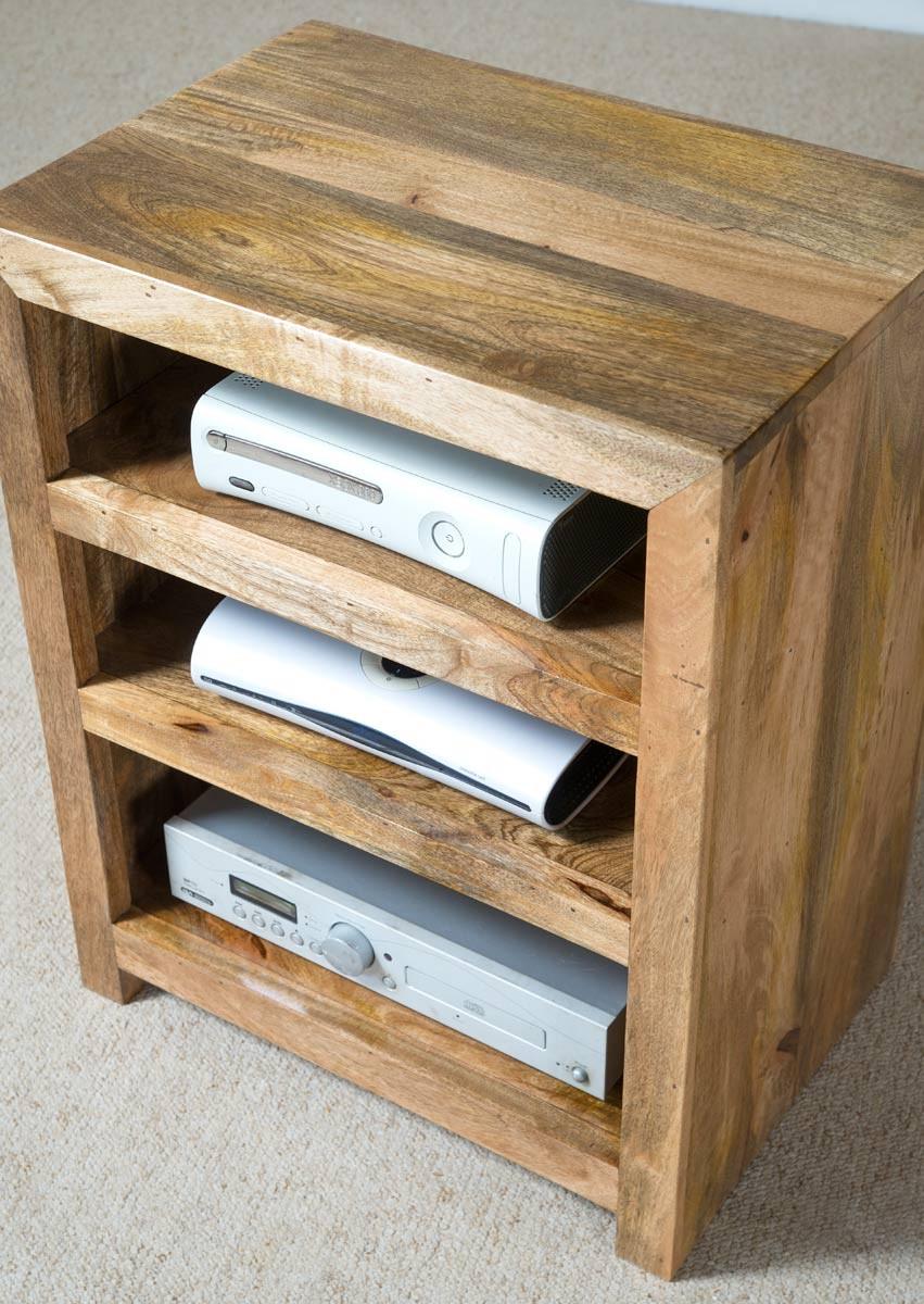 Dakota Light Mango Low Open Hi Fi Unit Casa Bella Furniture Uk # Hifi Furniture Wood High Quality