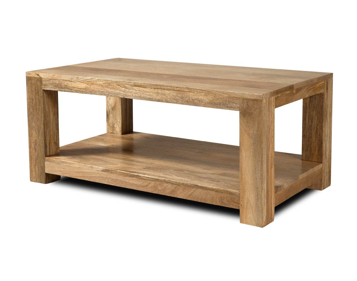 Solid Wood Open Coffee Table Mango Wood Table