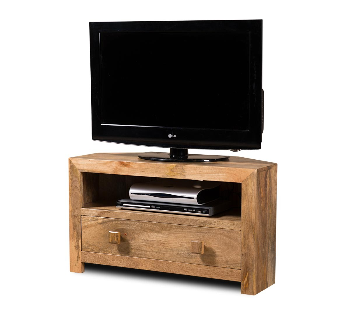 dakota light mango small corner tv stand tv hi fi units living casa bella furniture uk. Black Bedroom Furniture Sets. Home Design Ideas