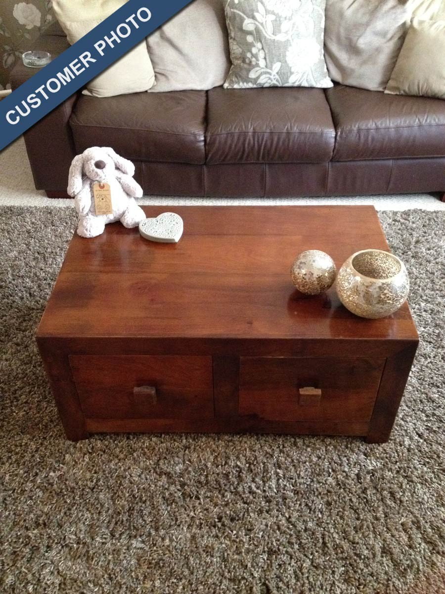 4 drawer mango coffee table small casa bella furniture uk dakota mango small 4 drawer coffee table 4 geotapseo Image collections