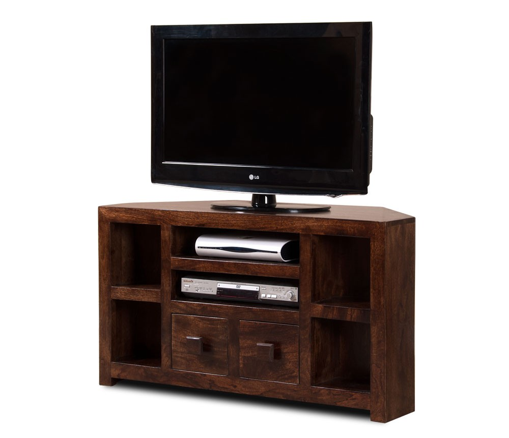 newest 9c719 e81e4 Dakota Dark Mango Corner TV Unit