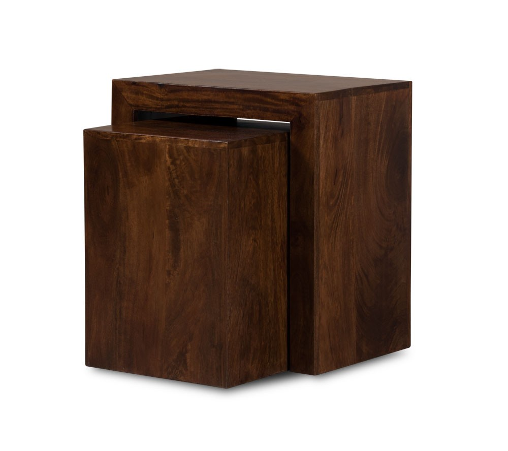 Dakota dark mango 2 cube nest casa bella furniture uk for Furniture uk