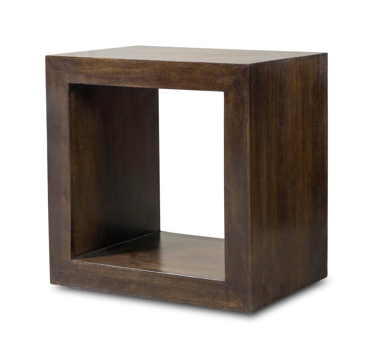 Dakota Dark Mango Cube Side Table : Casa Bella Furniture UK