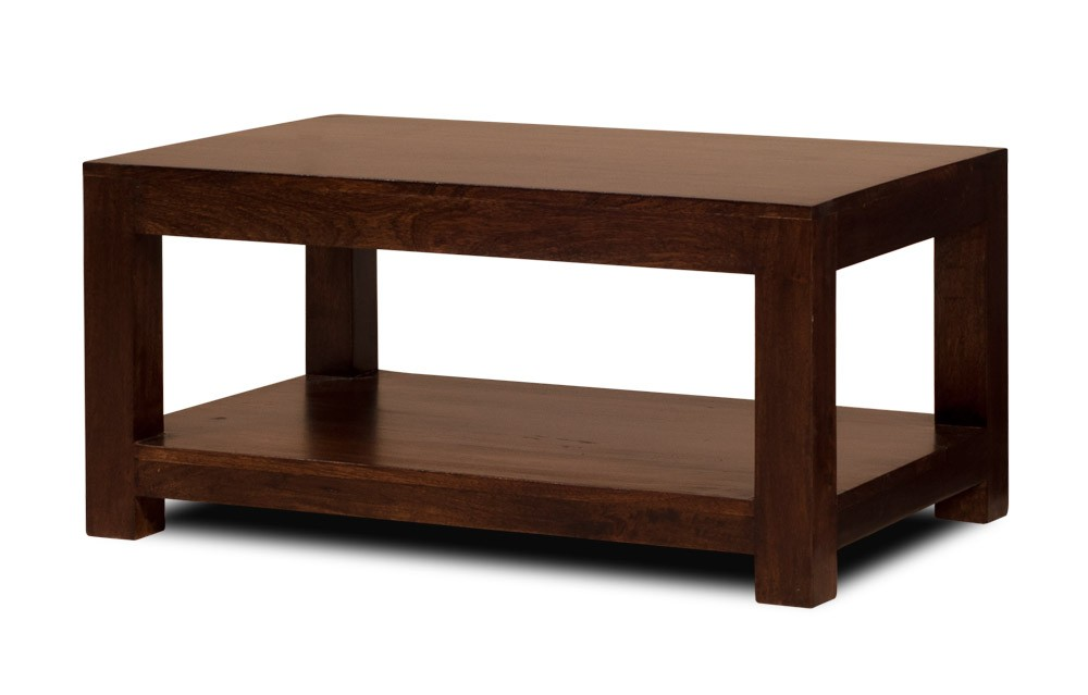 Dakota Dark Mango Open Coffee Table Casa Bella Furniture Uk