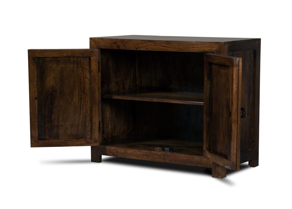 Dakota Dark Mango Small 2 Door Sideboard Casa Bella Furniture Uk
