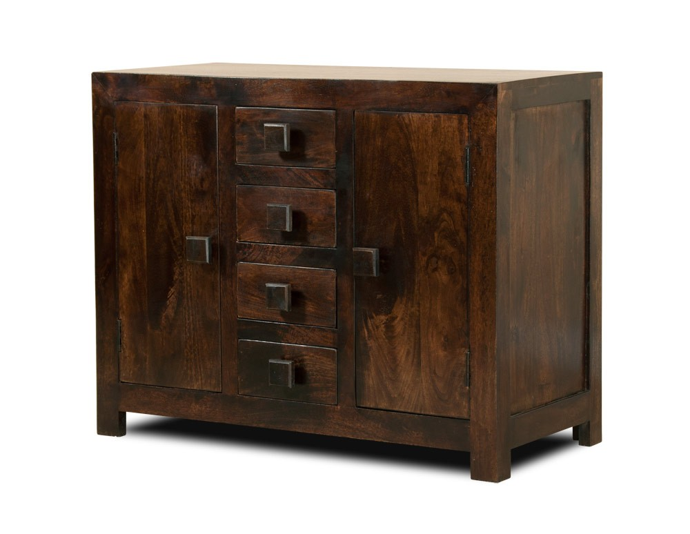 Dakota Dark Mango Small Sideboard Casa Bella Furniture Uk