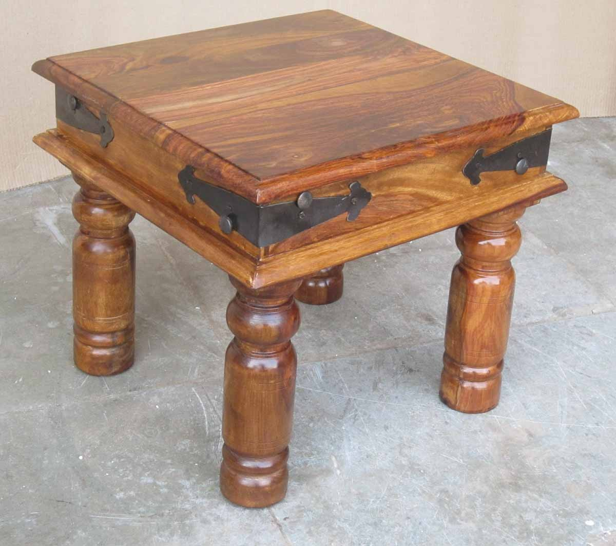 Sheesham Wood Furniture ~ Jali sheesham lamp end table casa bella furniture uk