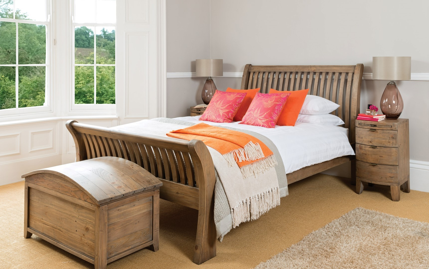 Antigua Reclaimed King Size Bed Casa Bella Furniture UK