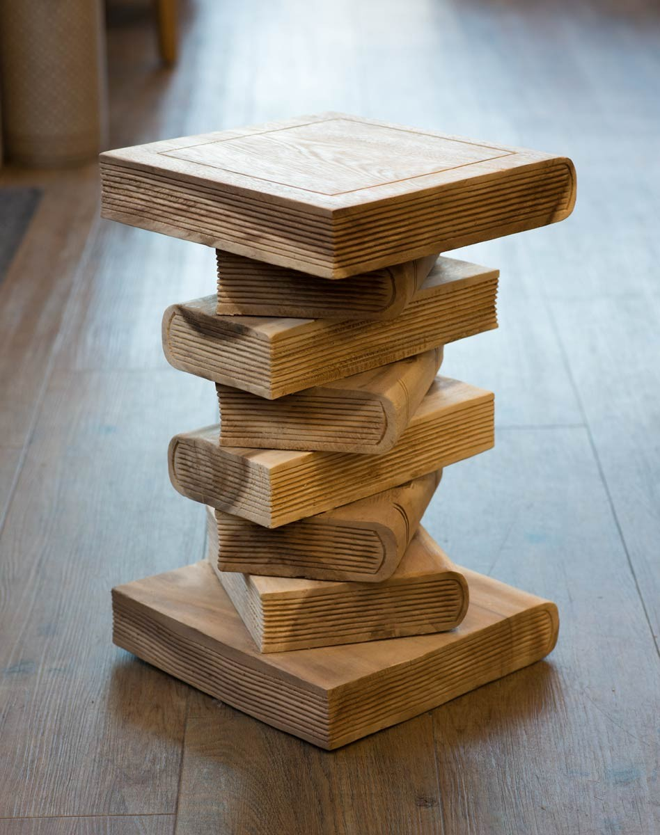 Solid Wood Book Stack Light Casa Bella Furniture Uk