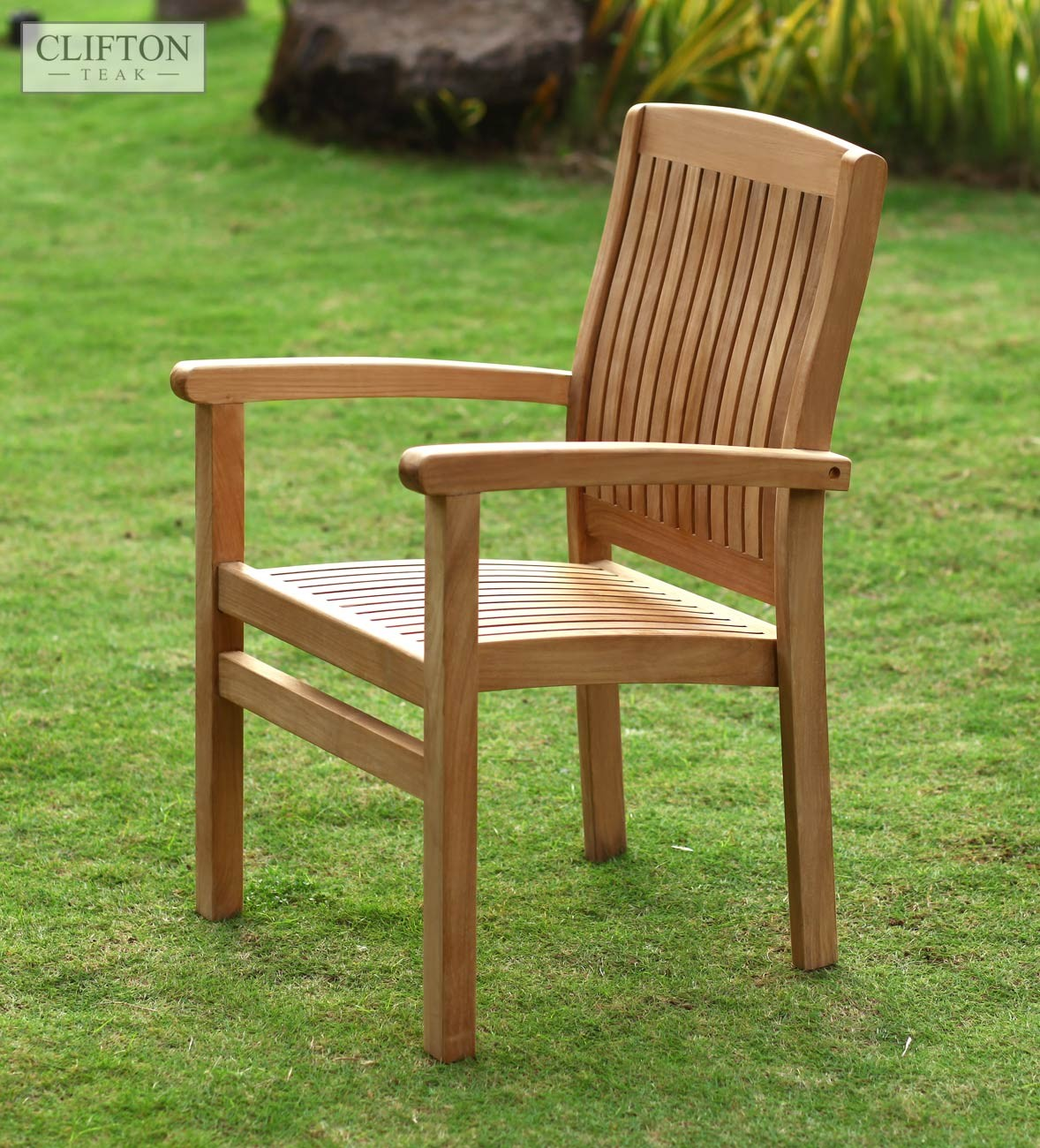 Sussex Teak Stacking Armchair | Casa Bella Furniture UK