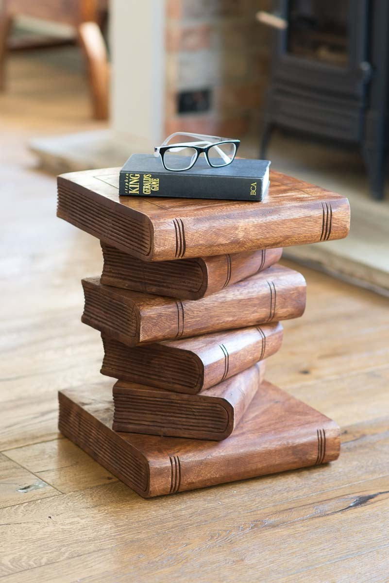 Brilliant Solid Wood Book Stack Waxed Download Free Architecture Designs Fluibritishbridgeorg
