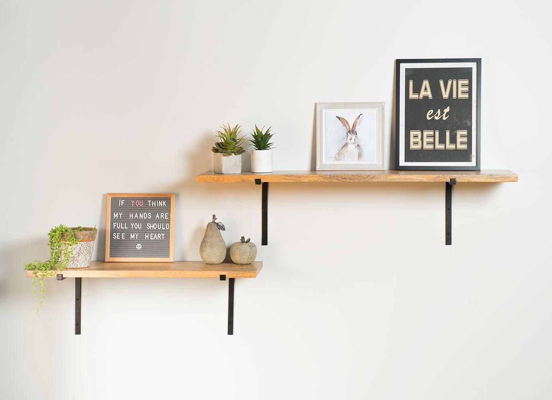 Industrial Mango Metal Wall Shelves 80cm 110cm Casa Bella Furniture Uk