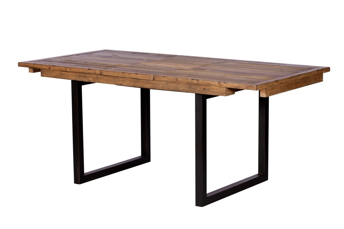 Dining Room Tables Reclaimed Wood Brooklyn Industrial Extending Dining Table Reclaimed Solid