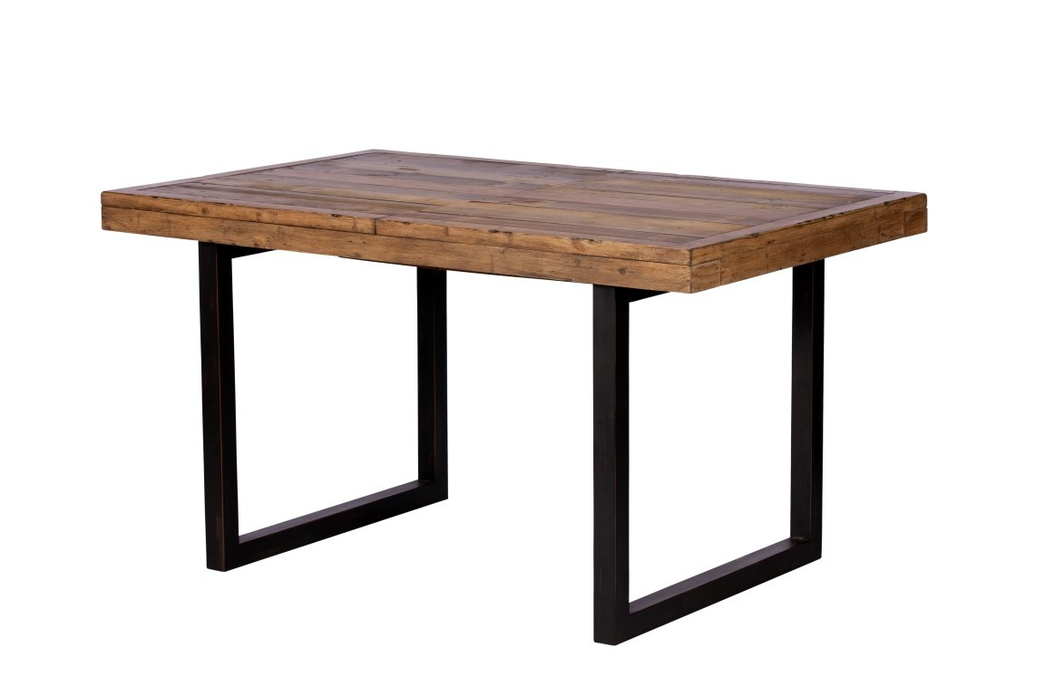 Industrial Extending Dining Table Brooklyn Industrial Extending Dining Table Reclaimed Solid Wooden