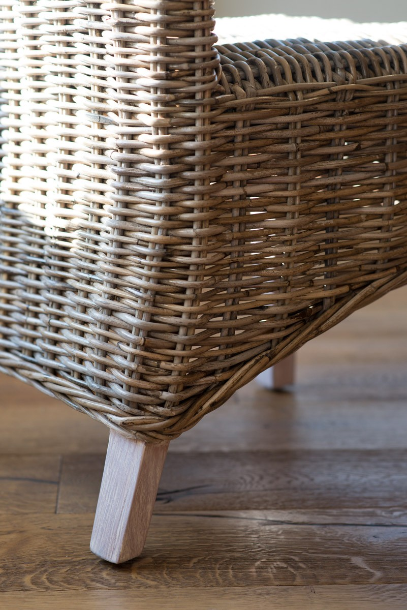 ... Kubu Rattan Dining Chair   Whitewashed Leg