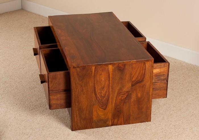 Mandir Sheesham 4-Drawer Coffee Table 3 ...