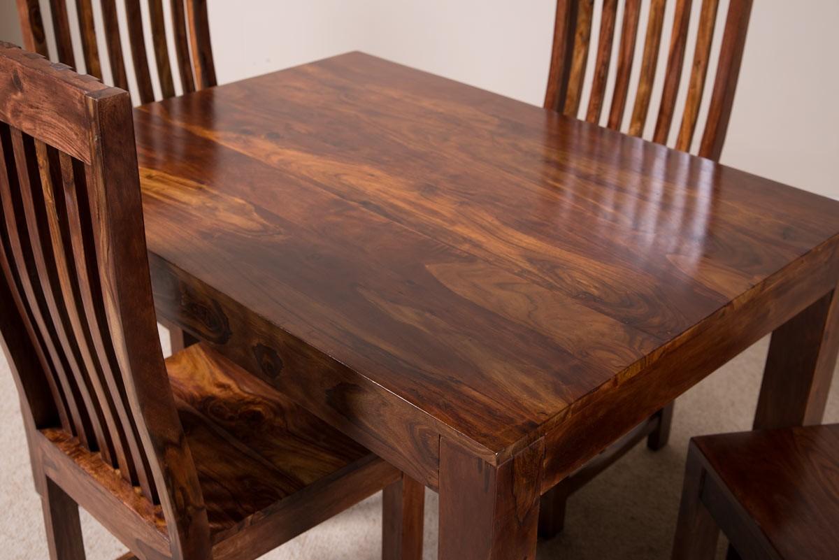 Mandir Sheesham Dining Table Casa Bella Furniture Uk