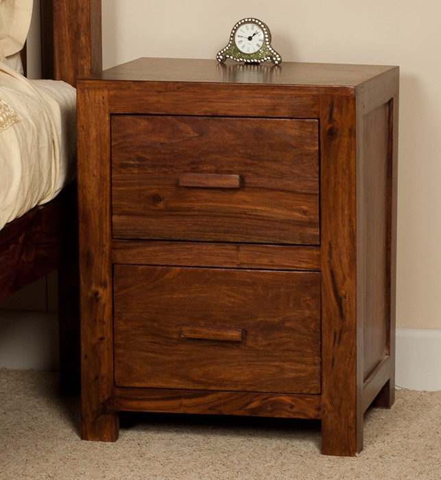 Cube Sheesham 2 Over 3 Chest Of Drawers