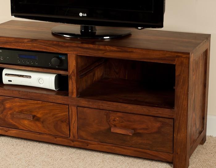 Mandir Sheesham Large TV Unit  Casa Bella Furniture UK