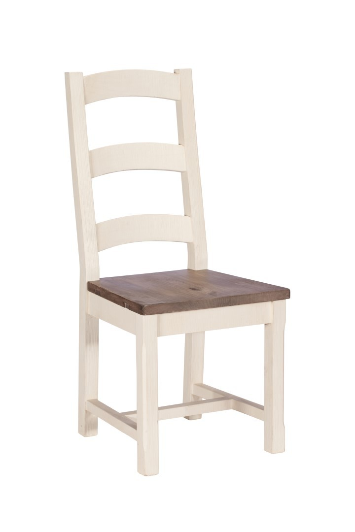 Wood Breakfast Chairs ~ Montpellier painted wooden seat dining chair casa bella