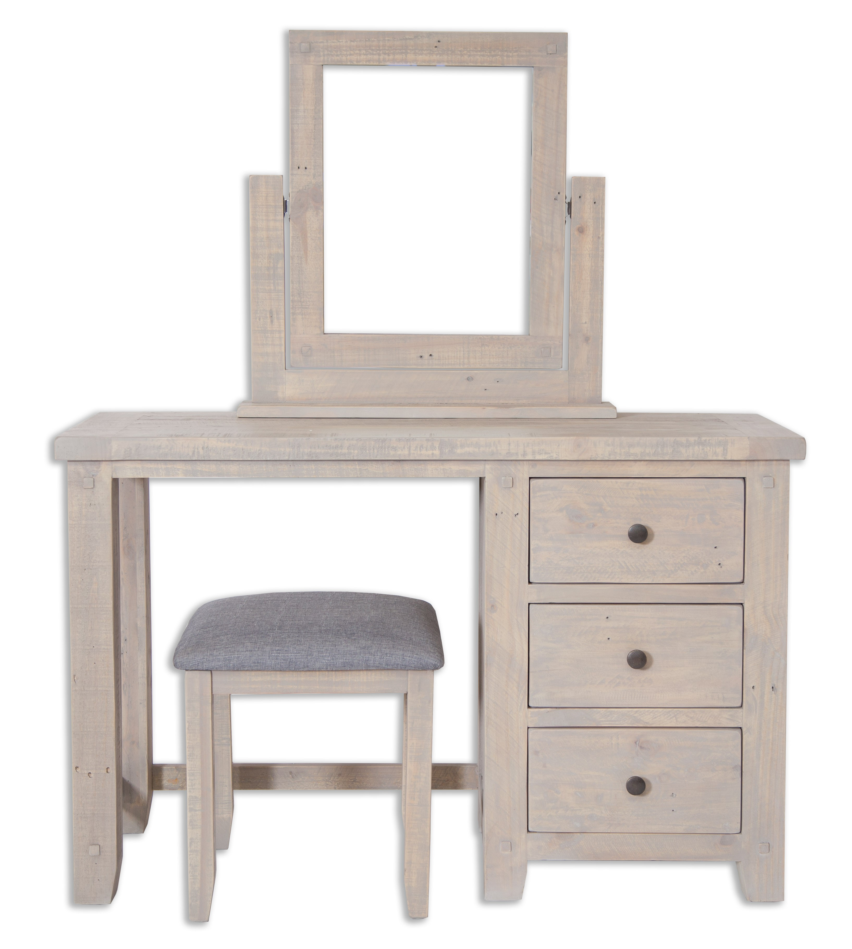 huge selection of d23b1 a8cd2 Cotswold Reclaimed Pine Dressing Table With Stool and Mirror