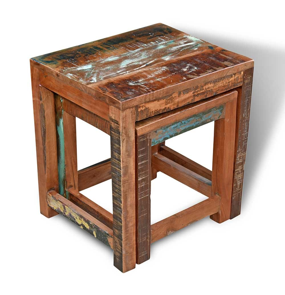 9da0409f5a Reclaimed Indian Nest of 2 Tables Reclaimed Indian Nest of 2 Tables