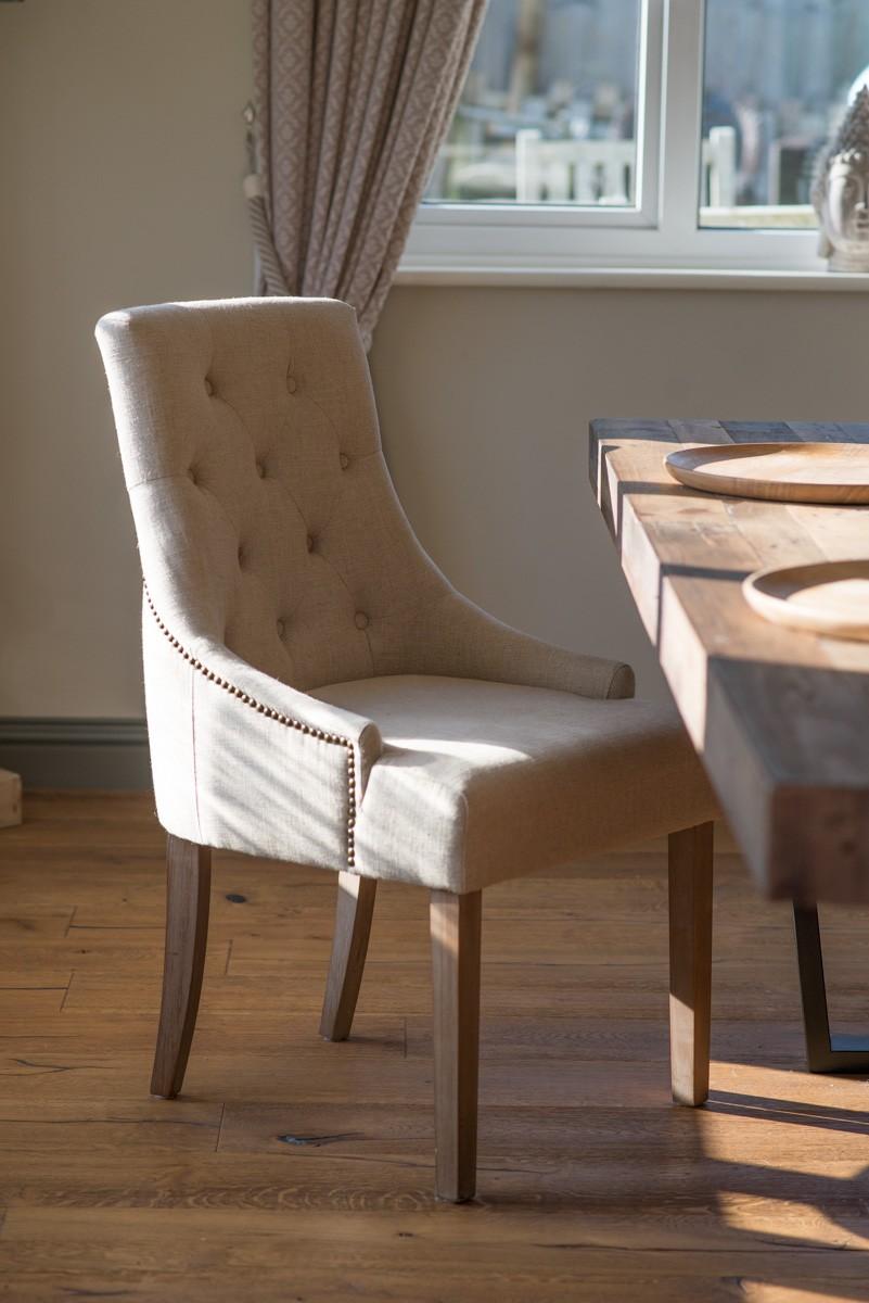 Richmond Studded Fabric Dining Chair