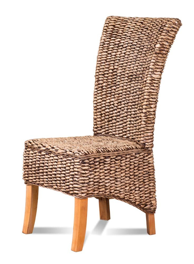Banana Leaf Natural Rattan Dining Chair Large Light