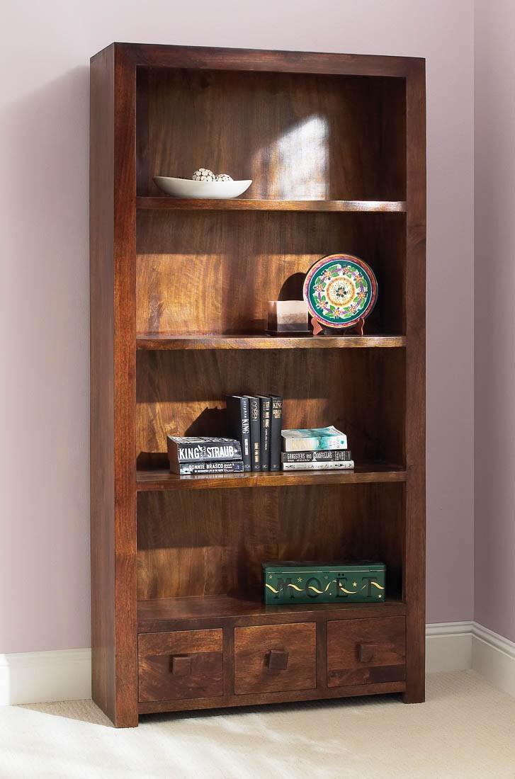 Dakota Mango Tall Bookcase 1