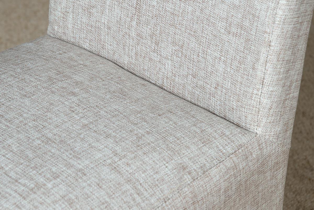 Tweed Fabric Dining Chair Beige Casa Bella Furniture Uk