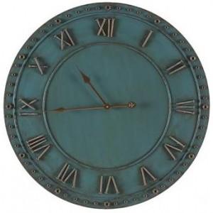Blue Iron Roman Numerals Clock