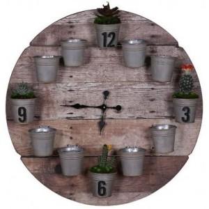 Flower Pot Clock