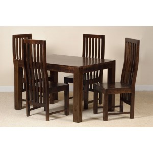 Dakota Dark Mango 4 Seater Dining Set 1