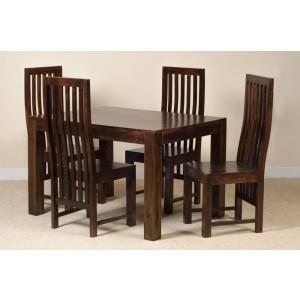 Dakota Dark Mango 4 Seater Dining Set 1