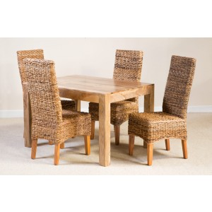 Catalina 4-Seater Light Mango Dining Set 1