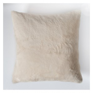 Faux Rabbit Double Sided Cushion Cream