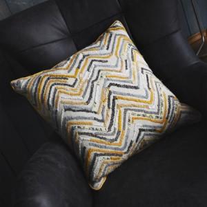 Tangier Hand Embellished Cushion Ochre