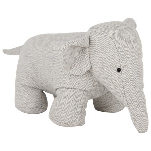 Light Grey Fabric Elephant Doorstop
