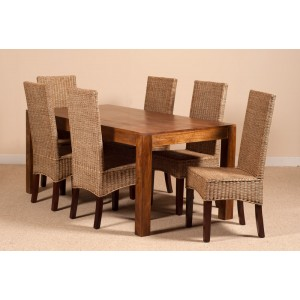 Ibis Rattan 6 Seater Dining Set - Dakota Table