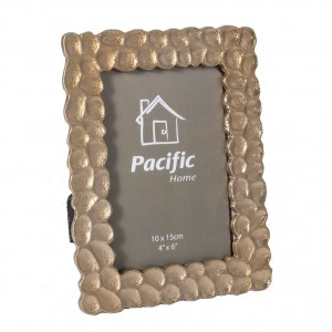 Champagne Aluminium Oblong Photo Frame Small