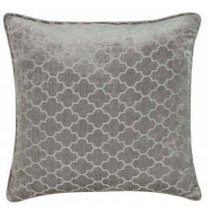 Soft Grey Marrakech Chenille Cushion 1