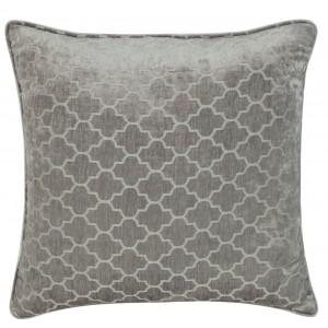 Soft Grey Marrakech Chenille Cushion 1