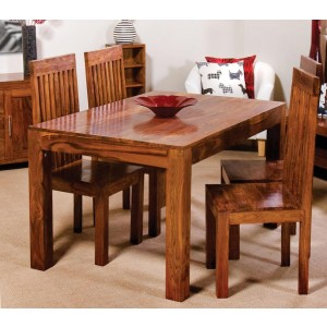 Cuba Sheesham 4-Seater Dining Set 1