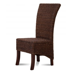 Erlina Rattan Dining Chair - Dark Leg 1