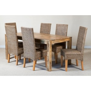 Ibis Rattan 6-Seater Light Mango Dining Set 1