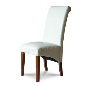 Verona Ivory Leather Dining Chair Part 65
