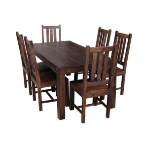 Mango Walnut 6-Seater Dining Set 1