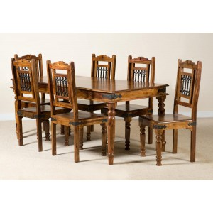 Jali Sheesham 180cm Table & 6 Chairs 1